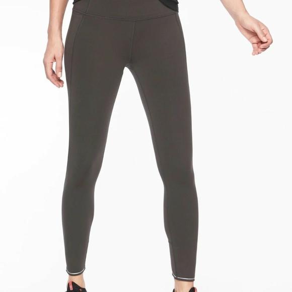 161356b4930e40 Athleta Pants | Run Free 78 Tight Arbor Olive M | Poshmark